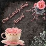 One Lovely Blog Award – Thank You!
