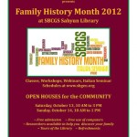 SBCGS Family History Month Open House