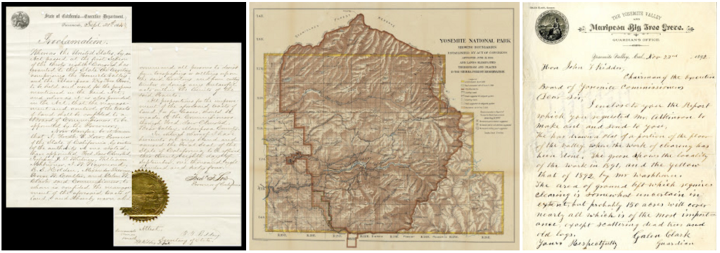 Yosemite Park Documents from the California State Archives