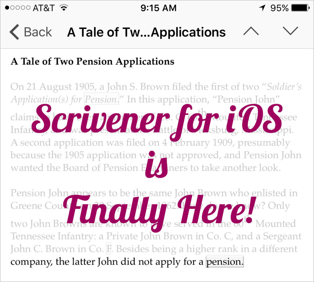 Scrivener for iOS is Finally Here