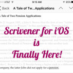 It's Here, It's Here: Scrivener for iOS!
