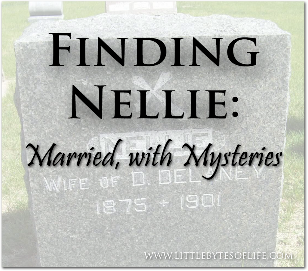 Finding Nellie: What I know (so far) about my gg-grandmother Nellie Coyne's marriage (original photo from Find A Grave)
