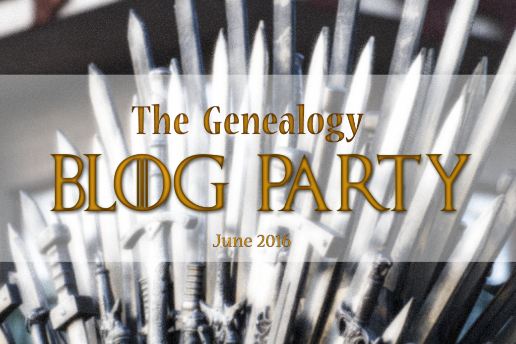 June 2016 Genealogy Blog Party