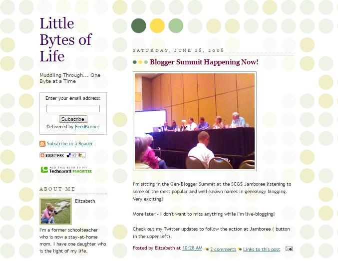 Little Bytes of Life - June 2008