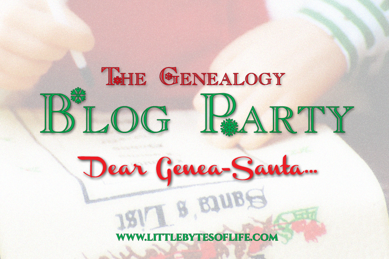 Genealogy Blog Party December 2016